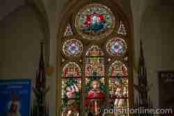Bleiglasfenster in der St-Adalbert-Kirche in Sensburg