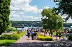 Promenade am Ufer des Sees Czos in Sensburg (Mrągowo)