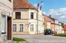 Bürgerhäuser in Bischofsstein (Bisztynek) im Ermland