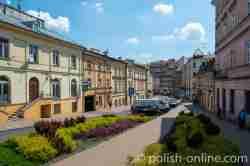 Straßenzug des jüdischen Viertels in Lublin