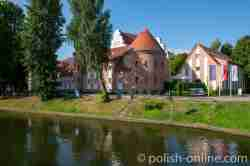 Restauriertes Schloss in Lötzen
