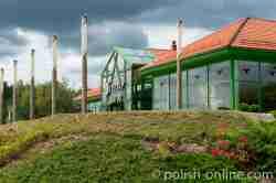 Trinkhalle im Kurviertel von Goldap in Masuren