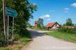Dorfstraße von Groß Medunischken (Mieduniszki Wielkie)