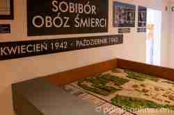 Modell des Vernichtungslagers Sobibor im alten Museum