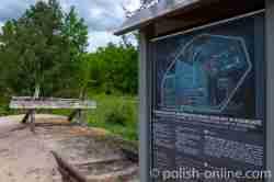 Prellbock im Vernichtungslager Sobibor, vor dem die Deportationszüge hielten