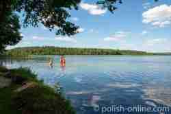 Badestelle am Waitz See in Masuren