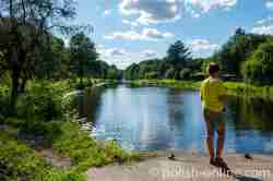 Angler am Masurischen Kanal in Masursen