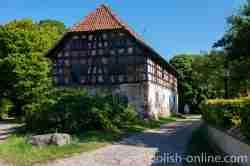 Fachwerkspeicher im Gut Gallingen (Galiny) in Masuren