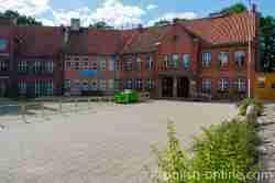 Schulgebäude von 1890 in Wormditt (Orneta) im Ermland