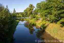 Fluss Drewenz (Drwęca) in Orneta im Ermland