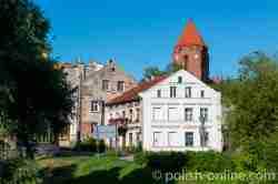 Blick auf die Altstadt von Wormditt (Orneta) im Ermland