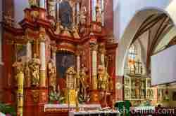 Hauptaltar der Johanniskirche in Wormditt (Orneta) im Ermland