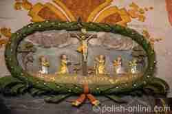 Epitaphium der fünf Geschwister Kikoll in der Pfarrkirche in Reichenau (Rychnowo)