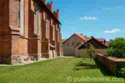 Südwand der Kirche des Heiligen Kreuzes in Landsberg i. Ostpreußen (Górowo Iławeckie)