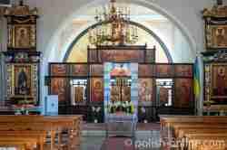 Ikonostase in der Griechisch-katholische Kirche Erzengel Michael in Mehlsack (Pieniężno) im Ermland