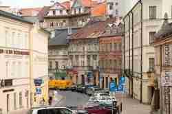 Häuser im früheren jüdischen Viertel in Lublin