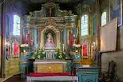 Altar in der griechisch-katholischen Kirche in Tylicz