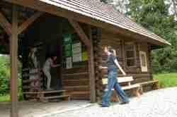 Kasse des Freilichtmuseums Neu Sandez