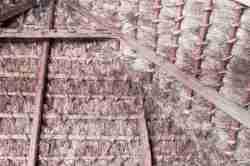 Foto von einem strohgedeckten Scheunendach im Freilichtmuseum Lublin