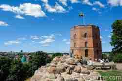 Gediminas-Turm auf dem Burgberg in Vilnius