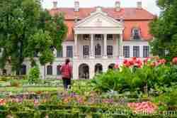 Blick auf das Palais in Kozłówka