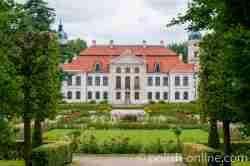 Französischer Park des Schlosses in Kozłówka