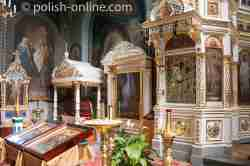 Altarraum in der Kirche des hl. Onufry in Jabłeczna