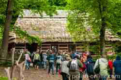 Bauernhaus einer Bojkenfamilie