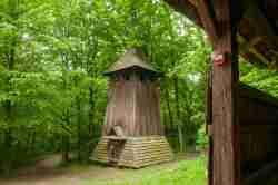 Glockenturm einer Bojkenkirche in Sanok