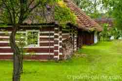 Bauernhaus der Bojken im Freilichtmuseum in Sanok