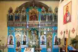 Ikonostase in der Erzenge-Michael-Kirche in Ustrzyki Dolne