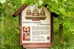 Infotafel über eine Kirche in Wołosate