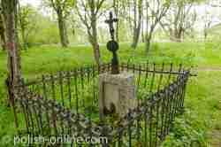 Grab auf dem Friedhof in Wołosate