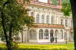 Fassade des Habsburger Schlosses in Saybusch (Żywiec)