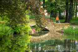 Brücke im Schlosspark von Saybusch (Żywiec)