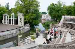 Amphitheater im Łazenki Park in Warschau