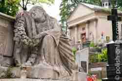 Skulptur Łyczakowski-Friedhof in Lemberg