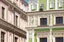 Fassade des Wilczkowska-Hauses in Zamość