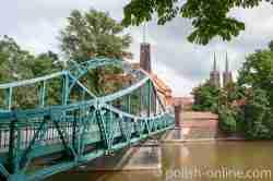 Die Tumskibrücke in Breslau