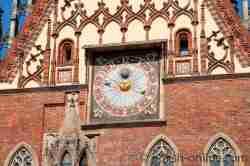 Astronomische Uhr Rathaus Breslau (Wrocław)
