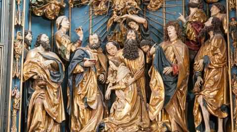 Hauptszene des Marienaltars, Marienkirche Krakau
