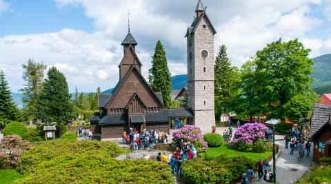 Kirche Wang in Krummhübel (Karpacz) im Riesengebirge