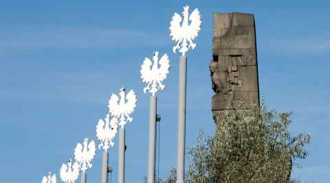 Sieben Fahnmasten Westerplatte Danzig