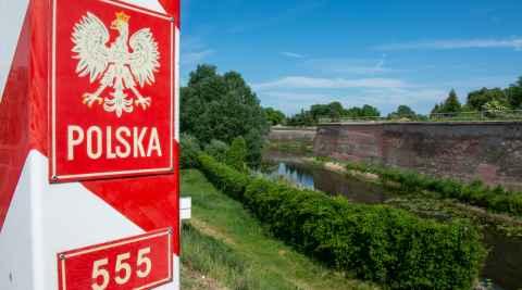Polnischer Grenzpfosten