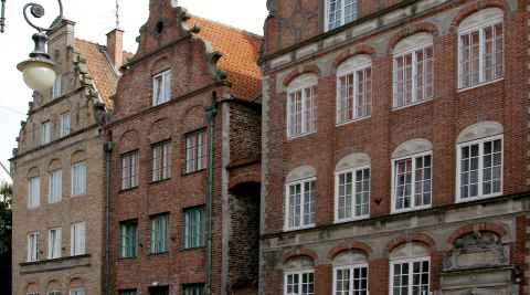 Restaurierte Bürgerhäuser in Elbing