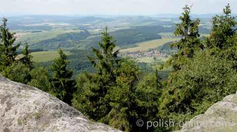 Blick vom Großen Heuscher im Heuscheuer Gebirge.
