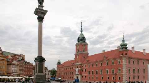 Sigismundsäule auf dem Schlossplatz in Warschau