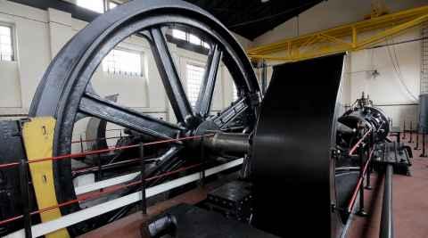 Dampfmaschine im Bergbaufreilichtmuseum Königin Louise in Zabrze