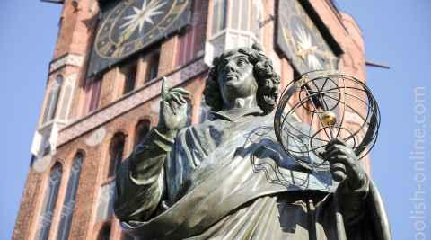 Kopernikus-Denkmal vor dem Rathaus von Thorn (Toruń)