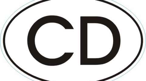 Länderkennzeichen CD Corps Diplomatique